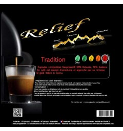 Tradition by Relief, Nespresso® compatible coffee capsules.