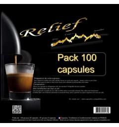 Pack 100 Capsules Relief compatibles Nespresso® Assemblage de café
