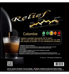 Colombie capsules Relief compatibles Nespresso®