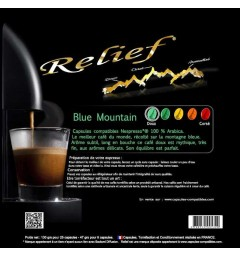 Casket of compatible capsules Nespresso® Blue Mountain
