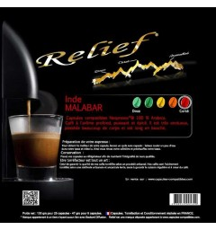 Inde Malabar by Relief, Nespresso® compatible coffee capsules.