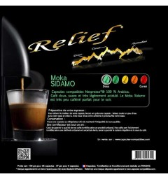 Moka Sidamo by Relief, Nespresso® compatible coffee capsules.