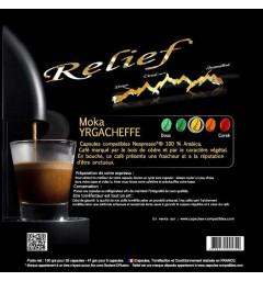 Moka Yrgacheffe Capsules compatibles Nespresso ® Relief