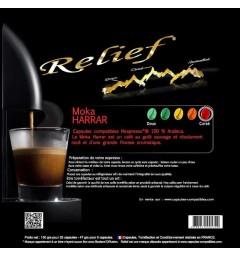 Moka Harrar capsules compatibles Nespresso ® Relief