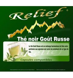 Relief Capsules compatibles Thé noir Goût Russe