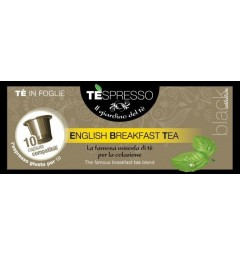 Tespresso English Breakfast Tea, 10 Capsules de thé compatibles Nespresso®