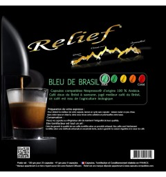 Blue Brasil Relief capsules compatible Nespresso ®