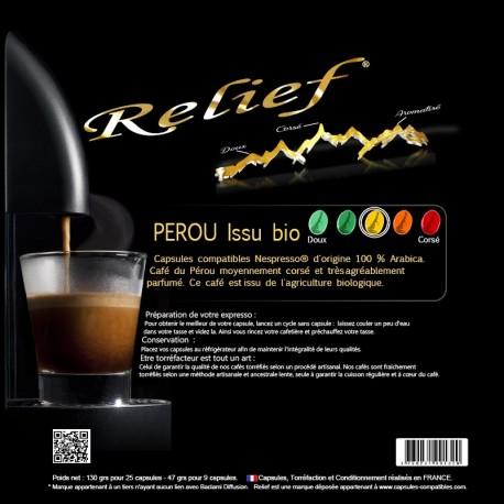 Perou capsules Relief Bio compatibles Nespresso ®