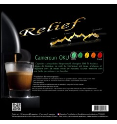 Cameroon OKU Nespresso compatible capsules RELIEF ®