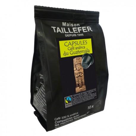 House TAILLEFER compatible Nespresso capsules ® Guatemala