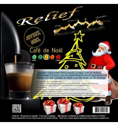 Christmas Coffee Capsules Nespresso ® compatible RELIEF
