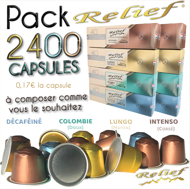 Pack 2400 capsules compatibles Nespresso ®