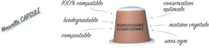 capsule biodégradable compatible Nespresso Honduras Bio