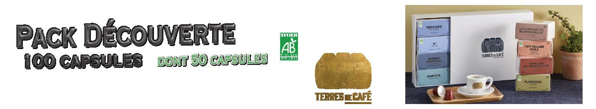 Coffret de 100 capsules compatibles nespresso ® Terres de Café